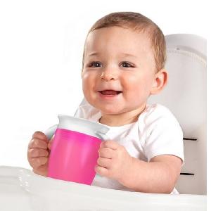 Преходна чаша за деца 360 градуса с дръжки - 2 модела // Munchkin