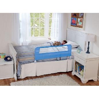 Преграда за легло синя за деца и бебета  // Lindam