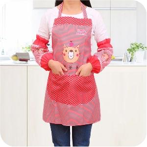 Престилка за готвене в комплект с практични ръкавели