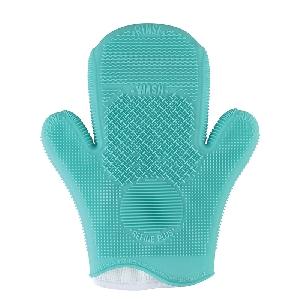 Силиконова ръкавица за почистване на четки за грим