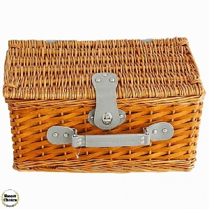 Кошница за пикник с прибори за двама - Куфарче. Модел 86-6198