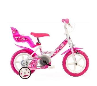 Бяло детско колело // Dino Bikes Little Heart 12 инча