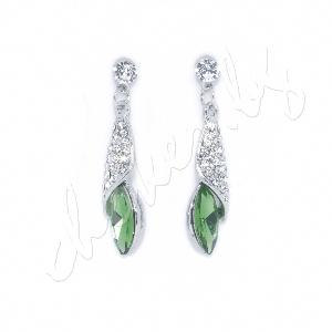 Блестящи нежни обеци с кристали