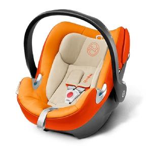 Оранжево детско столче за кола // Cybex Aton Q Autumn Gold