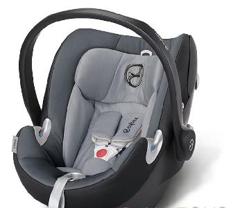 Сиво детско столче за кола // Cybex Aton Q Moon Dust