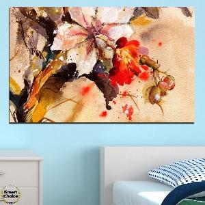 Картина пано за стена от 1 част с рисувана Китайска роза - HD-600-1