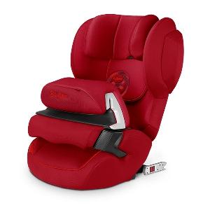 Червено детско столче за кола //  Cybex Juno 2 Fix Hot and Spicy