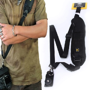 High Quality Quick Rapid Camera Single Shoulder Black Sling Belt Strap For SLR DSLR Camera