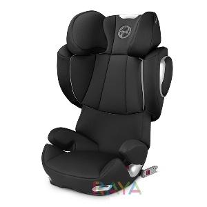 Черно детско столче за кола Black Beauty // Cybex Solution Q2 Fix