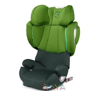 Зелено детско столче за кола Hawaii // Cybex Solution Q2 Fix