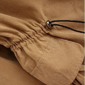 Тренч в три цвята есен зима пролет комбинация от памук и полиоакрил